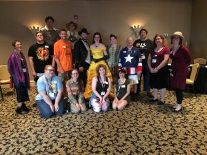 "My first LARP group, ""Paris in the Spring"" at Gen Con 2016."