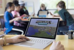 Minecraft on Surface photo by new.microsoft.com